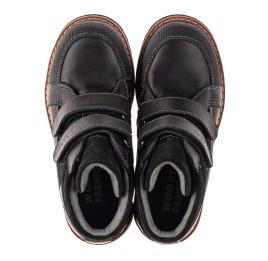 Детские демисезонные ботинки Woopy Fashion черные для мальчиков натуральная кожа и замша размер 21-39 (7135) Фото 5