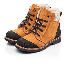 Детские демисезонные ботинки Woopy Fashion рыжие для девочек натуральный нубук размер 23-38 (7136) Фото 3