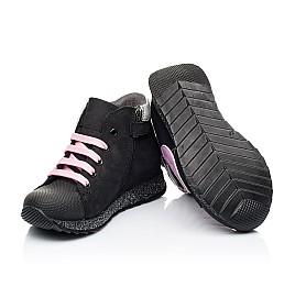 Детские демисезонные ботинки Woopy Fashion черные для девочек натуральный нубук размер 24-38 (7140) Фото 2