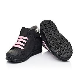 Детские демисезонные ботинки Woopy Fashion черные для девочек натуральный нубук размер 24-38 (7140) Фото 3