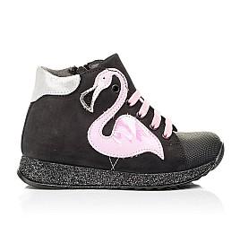Детские демисезонные ботинки Woopy Fashion черные для девочек натуральный нубук размер 24-38 (7140) Фото 5
