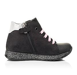 Детские демисезонные ботинки Woopy Fashion черные для девочек натуральный нубук размер 24-38 (7140) Фото 6