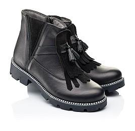 Детские демисезонные ботинки Woopy Fashion черные для девочек натуральная кожа размер 37-38 (7142) Фото 1