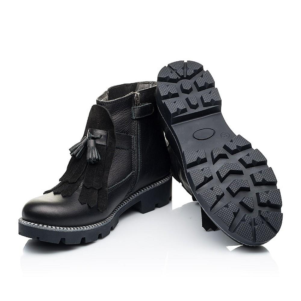 Детские демисезонные ботинки Woopy Fashion черные для девочек натуральная кожа размер 31-39 (7142) Фото 2