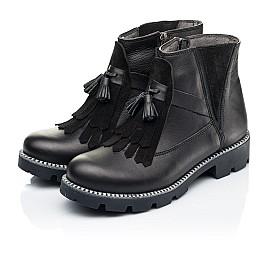 Детские демисезонные ботинки Woopy Fashion черные для девочек натуральная кожа размер 37-38 (7142) Фото 3