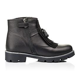 Детские демисезонные ботинки Woopy Fashion черные для девочек натуральная кожа размер 37-38 (7142) Фото 5