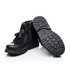 Детские демисезонные ботинки Woopy Orthopedic черные для девочек натуральная кожа размер 26-31 (7143) Фото 2