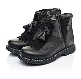 Детские демисезонные ботинки Woopy Orthopedic черные для девочек натуральная кожа размер 26-31 (7143) Фото 3