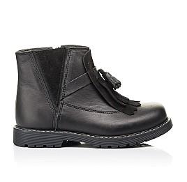 Детские демисезонные ботинки Woopy Orthopedic черные для девочек натуральная кожа размер 26-31 (7143) Фото 4