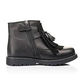 Детские демисезонные ботинки Woopy Orthopedic черные для девочек натуральная кожа размер 26-31 (7143) Фото 5