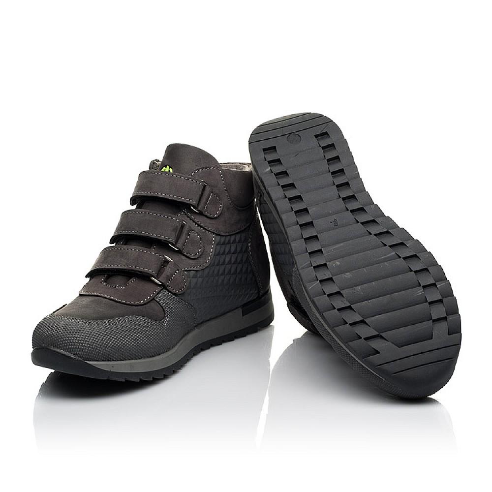 Детские демисезонные ботинки Woopy Fashion серые для девочек натуральный нубук размер 21-36 (7144) Фото 2