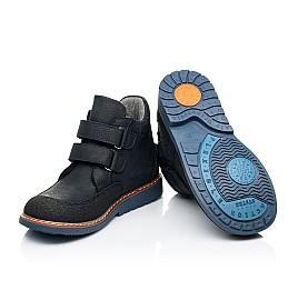 Детские демисезонные ботинки Woopy Orthopedic темно-синие для мальчиков натуральный нубук размер 22-36 (7146) Фото 2