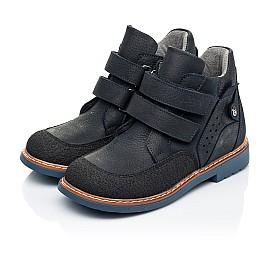 Детские демисезонные ботинки Woopy Orthopedic темно-синие для мальчиков натуральный нубук размер 22-36 (7146) Фото 3
