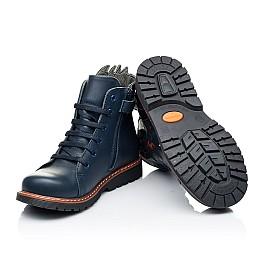 Детские демисезонные ботинки Woopy Orthopedic синие для мальчиков натуральная кожа размер 22-33 (7147) Фото 2
