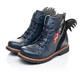 Детские демисезонные ботинки Woopy Orthopedic синие для мальчиков натуральная кожа размер 22-33 (7147) Фото 3