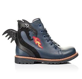 Детские демисезонные ботинки Woopy Orthopedic синие для мальчиков натуральная кожа размер 22-33 (7147) Фото 4