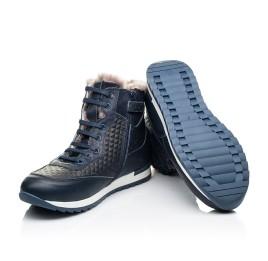 Детские зимние ботинки на меху Woopy Fashion синие для мальчиков натуральная кожа и замша размер - (7150) Фото 2