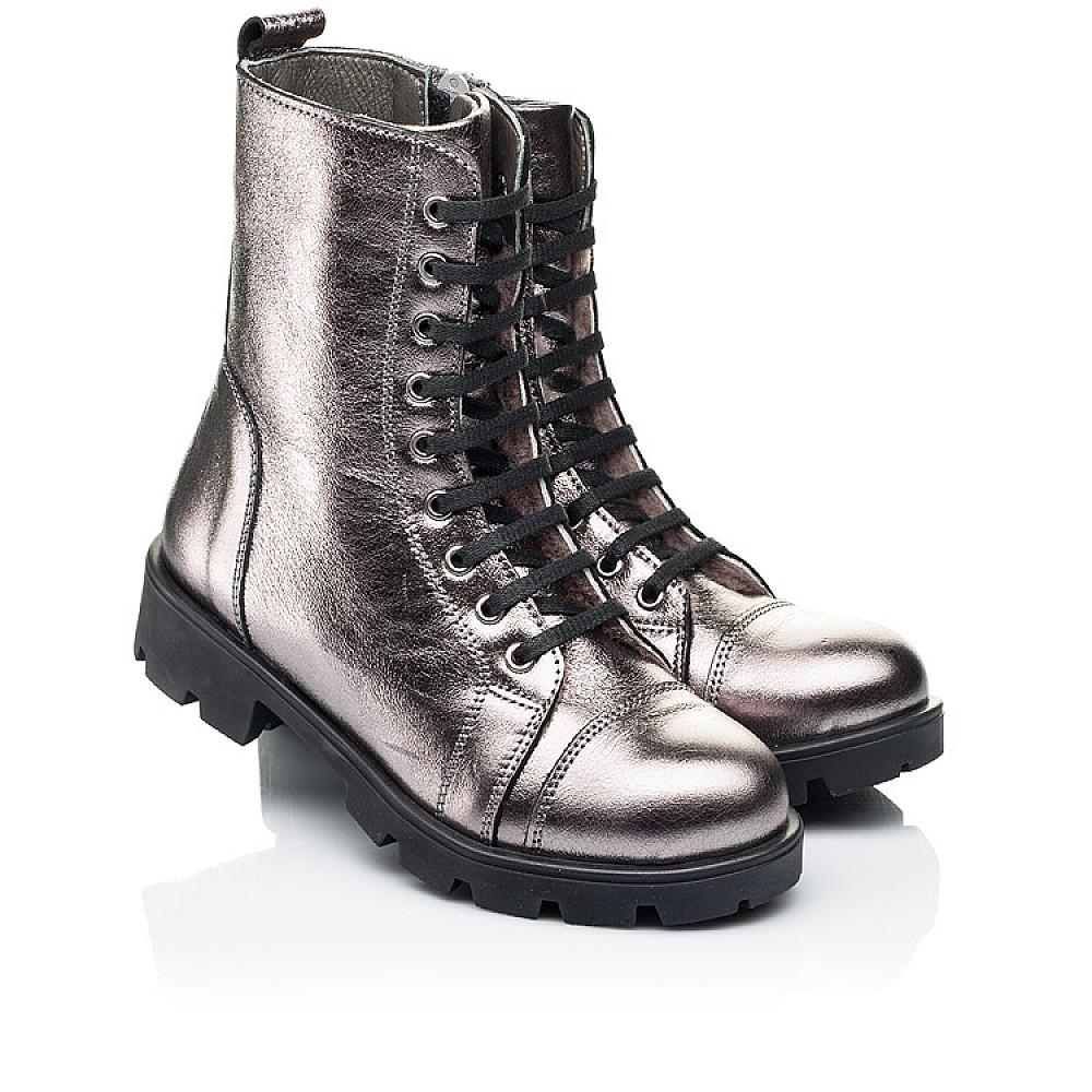 Детские зимние ботинки на меху Woopy Fashion серебряные для девочек натуральная кожа размер 28-38 (7151) Фото 1