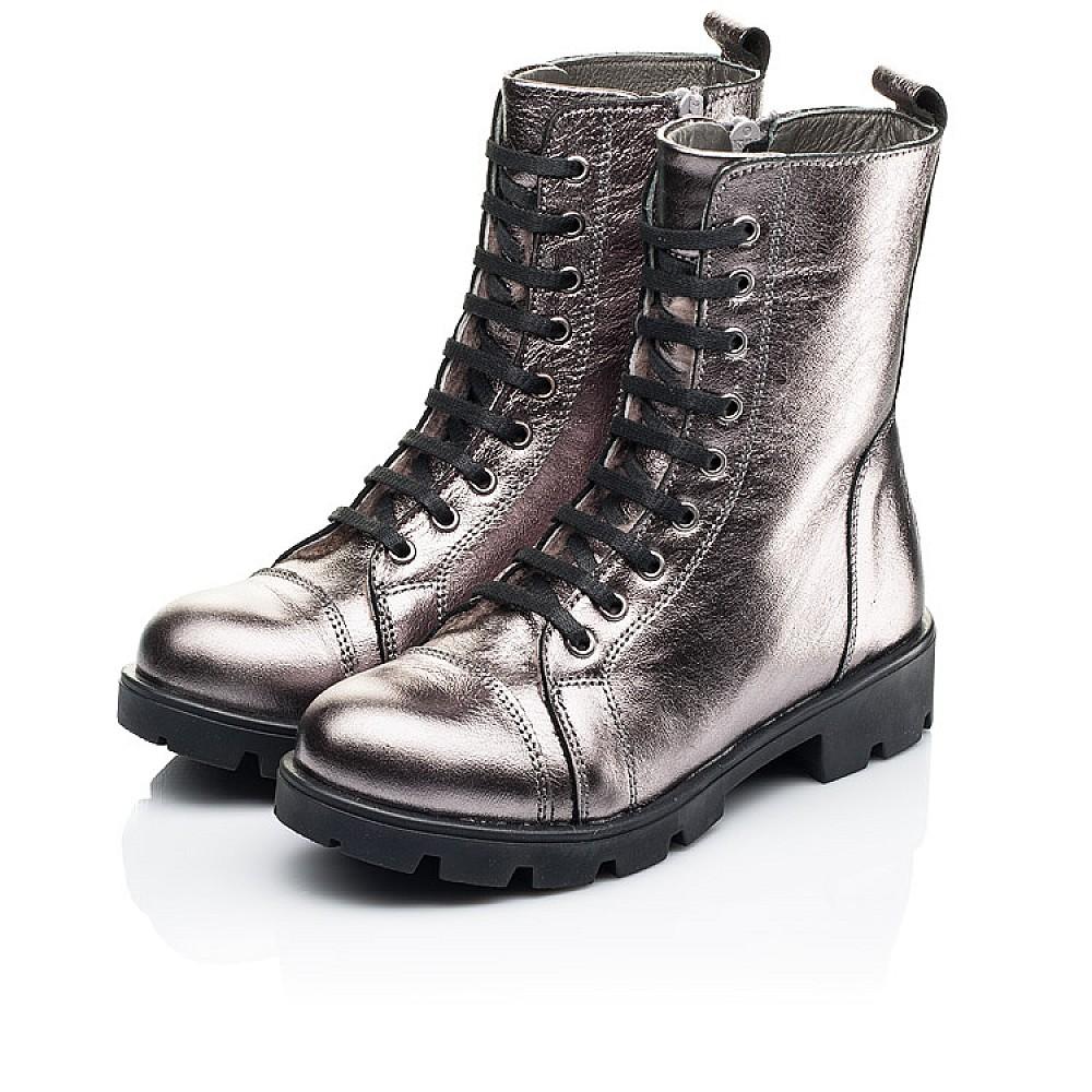 Детские зимние ботинки на меху Woopy Fashion серебряные для девочек натуральная кожа размер 28-38 (7151) Фото 3