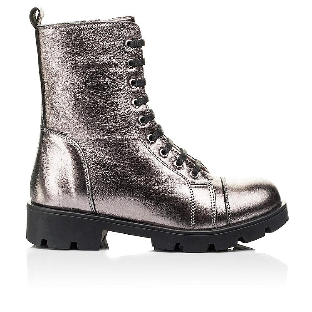 Детские зимние ботинки на меху Woopy Fashion серебряные для девочек натуральная кожа размер 28-38 (7151) Фото 4