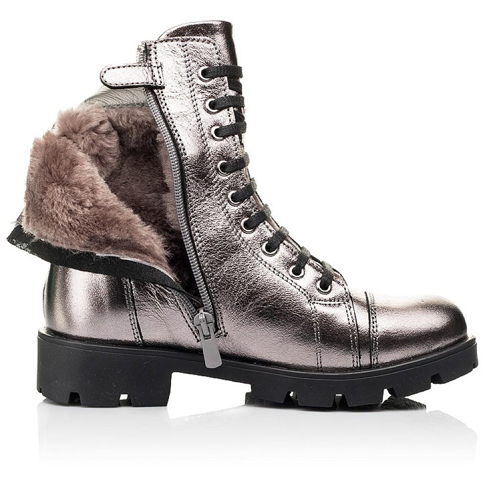 Детские зимние ботинки на меху Woopy Fashion серебряные для девочек натуральная кожа размер 28-38 (7151) Фото 5