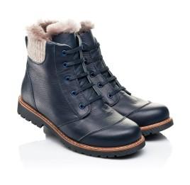 Детские зимние ботинки на меху Woopy Orthopedic синие для мальчиков натуральная кожа размер - (7156) Фото 1