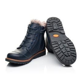 Детские зимние ботинки на меху Woopy Orthopedic синие для мальчиков натуральная кожа размер - (7156) Фото 2