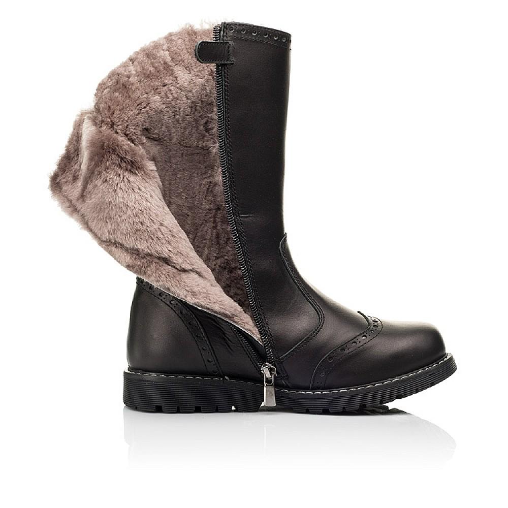 Детские зимние сапоги на меху Woopy Orthopedic черные для девочек натуральная кожа размер 29-39 (7157) Фото 5