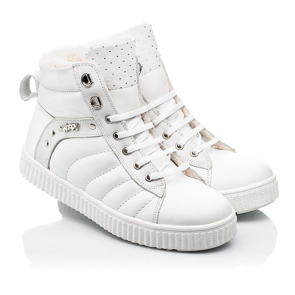 Детские зимние ботинки на шерсти Woopy Fashion белые для девочек натуральная кожа размер 31-39 (7159) Фото 1