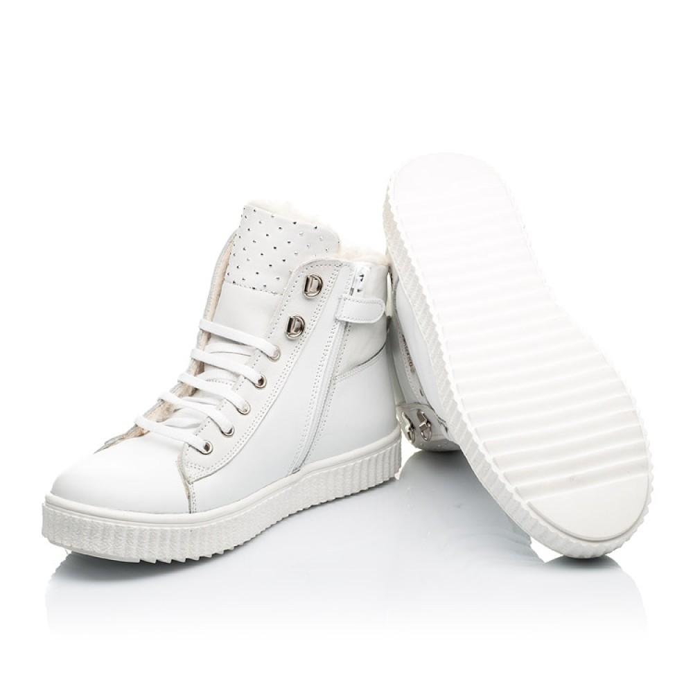 Детские зимние ботинки на шерсти Woopy Fashion белые для девочек натуральная кожа размер 31-39 (7159) Фото 2