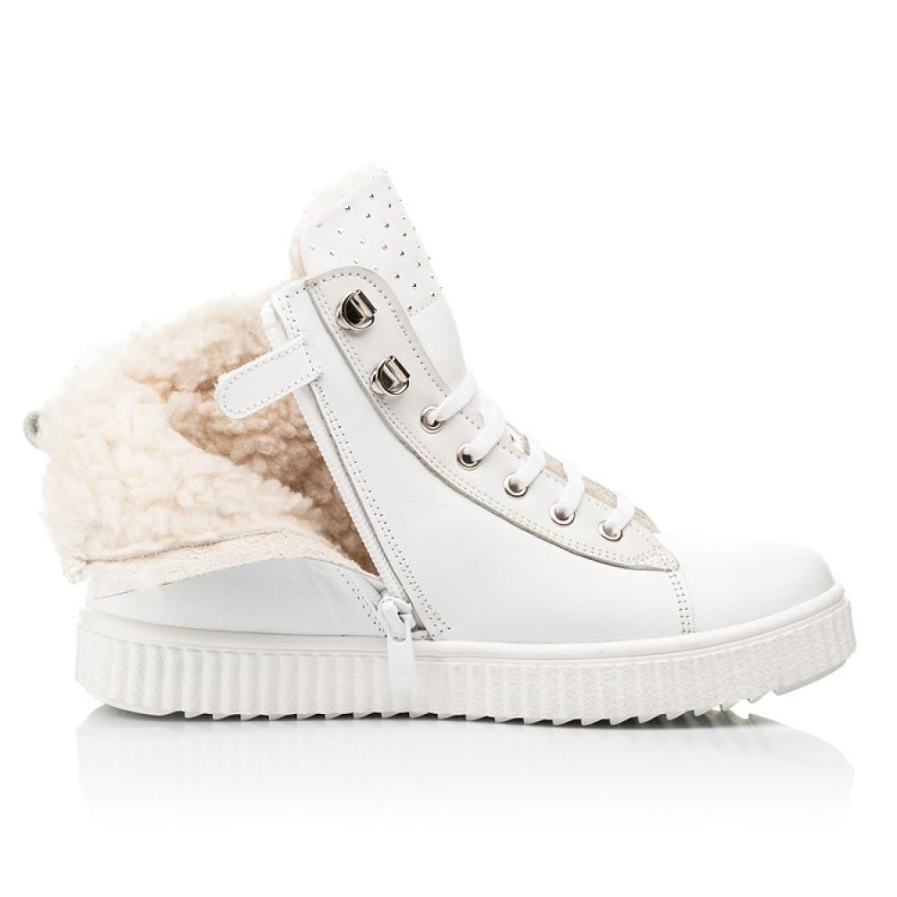Детские зимние ботинки на шерсти Woopy Fashion белые для девочек натуральная кожа размер 31-39 (7159) Фото 5