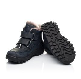 Детские зимние ботинки на меху Woopy Orthopedic темно-синие для мальчиков натуральный нубук размер 25-37 (7161) Фото 2