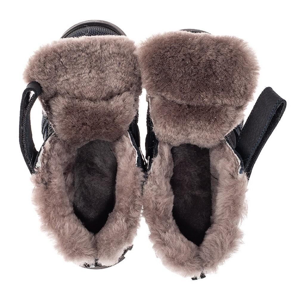 Детские зимние ботинки на меху Woopy Orthopedic темно-синие для мальчиков натуральный нубук размер 22-40 (7161) Фото 5