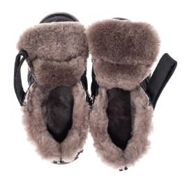 Детские зимние ботинки на меху Woopy Orthopedic темно-синие для мальчиков натуральный нубук размер 25-37 (7161) Фото 5