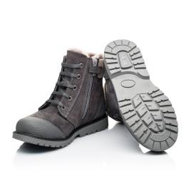 Детские зимние ботинки на меху Woopy Orthopedic серые для девочек натуральный нубук размер - (7163) Фото 2