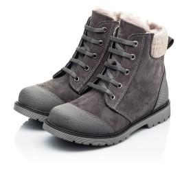 Детские зимние ботинки на меху Woopy Orthopedic серые для девочек натуральный нубук размер - (7163) Фото 3