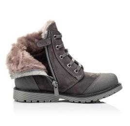 Детские зимние ботинки на меху Woopy Orthopedic серые для девочек натуральный нубук размер - (7163) Фото 5