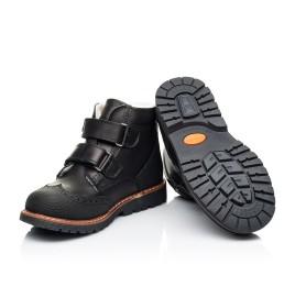 Детские зимние ботинки на шерсти Woopy Orthopedic черные для мальчиков натуральная кожа размер 23-27 (7164) Фото 2