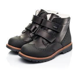 Детские зимние ботинки на шерсти Woopy Orthopedic черные для мальчиков натуральная кожа размер 23-27 (7164) Фото 3