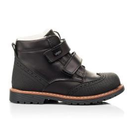 Детские зимние ботинки на шерсти Woopy Orthopedic черные для мальчиков натуральная кожа размер 23-27 (7164) Фото 4