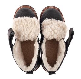 Детские зимние ботинки на шерсти Woopy Orthopedic черные для мальчиков натуральная кожа размер 23-27 (7164) Фото 5
