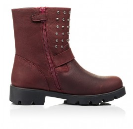 Детские демисезонные ботинки Woopy Orthopedic бордовые для девочек натуральный нубук размер 33-39 (7166) Фото 5