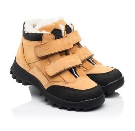 Детские зимние ботинки на шерсти Woopy Orthopedic рыжие для девочек натуральный нубук размер 22-37 (7168) Фото 1