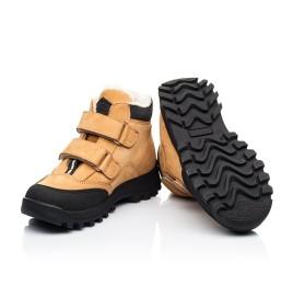 Детские зимние ботинки на шерсти Woopy Orthopedic рыжие для девочек натуральный нубук размер 22-37 (7168) Фото 2