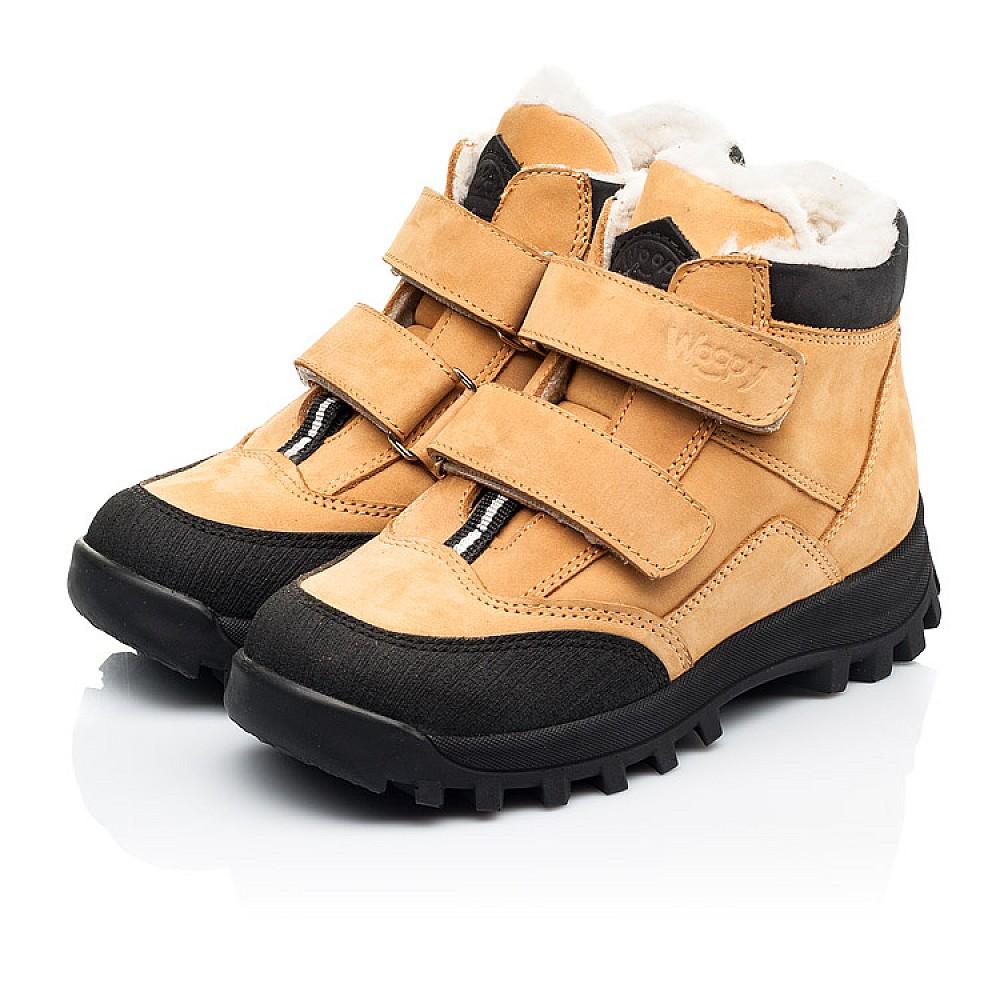 Детские зимние ботинки на шерсти Woopy Orthopedic рыжие для девочек натуральный нубук размер 21-38 (7168) Фото 3