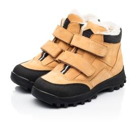 Детские зимние ботинки на шерсти Woopy Orthopedic рыжие для девочек натуральный нубук размер 22-37 (7168) Фото 3