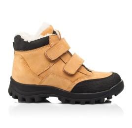 Детские зимние ботинки на шерсти Woopy Orthopedic рыжие для девочек натуральный нубук размер 22-37 (7168) Фото 4