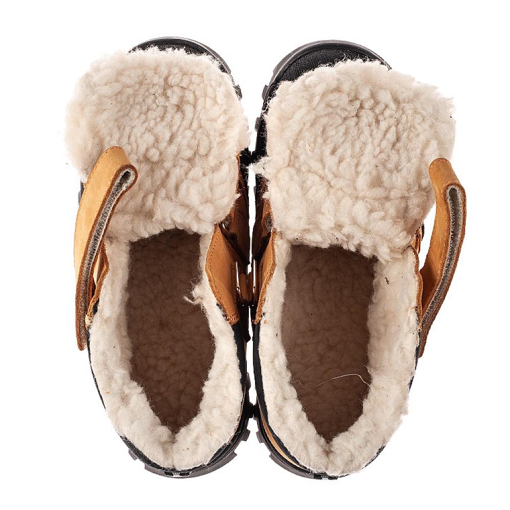 Детские зимние ботинки на шерсти Woopy Orthopedic рыжие для девочек натуральный нубук размер 21-38 (7168) Фото 5
