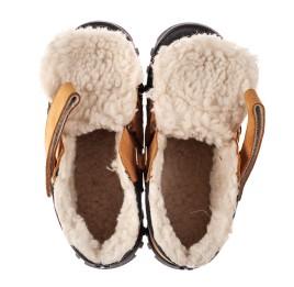 Детские зимние ботинки на шерсти Woopy Orthopedic рыжие для девочек натуральный нубук размер 22-37 (7168) Фото 5
