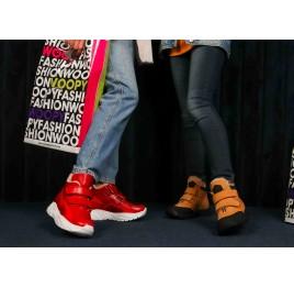 Детские зимние ботинки на шерсти Woopy Orthopedic рыжие для девочек натуральный нубук размер 22-37 (7168) Фото 6